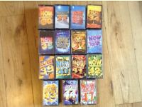 Cassette tapes various NOW albums