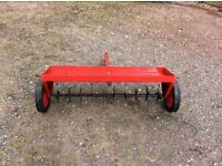 Lawn aerator to attach to a ride on mower.