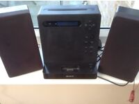 Sony stereo Radio/CD/iPod dock with remote