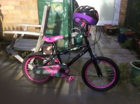 Girls Tinkerbell bicycle age 4 - 6 with helmet