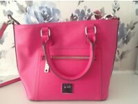 Fuschia pink principles hand bag