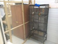 Aviary cages nesting boxes