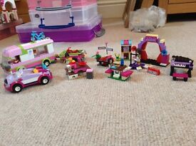 Lego Friends Bundle Camper Van, Car & Accessories & Andreas Stage & Piano