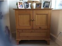 Pitch Pine Antique style TV cabinet