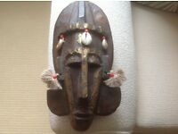 African DOGON wall plaque mask from Mali