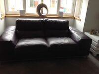 INCANTO ITALIAN 2 & 3 seater leather sofas excellent condition