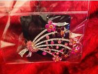 Crystal, diamanté broach/hair/hijab piece