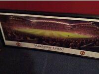 Manchester United framed print