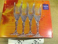 4 x Nirvana Christal de France 14 CL champagne flutes