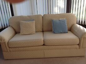 Cream Sofa and Easy chair