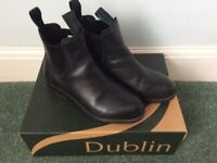 HORSE RIDING BOOTS DUBLIN DAILY PULL ON JOD BOOTS - BLACK - SIZE 4 UK CHILDS