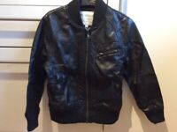 Boy faux Leather Jacket from M&S size 5-6 year old ( hardly to wear )