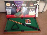 Micro pool table