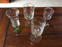 Four Sherry glasses