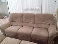 3 and 2 seater sofa with manual recliners for sale - Stafford