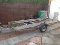 CAR TRANSPORT TRAILER - USED FOR CLASSIC CAR-LIGHT USE ONLY.