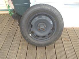 VW Touran spare wheel and 4 VW Touran alloy wheels
