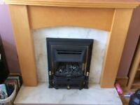 Fire surround ,coal effect fire and marble