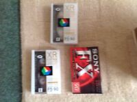 3 x CAMERA VIDEO CASSETTES BRAND NEW UNOPENED