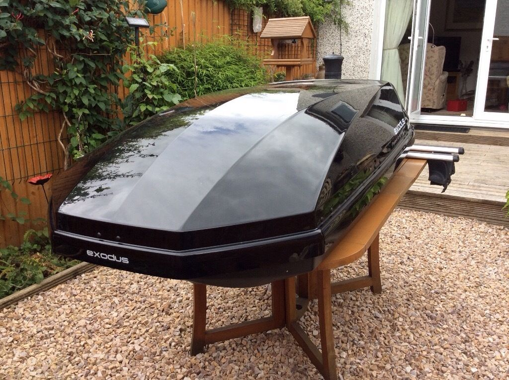For sale Exodus 470L Roof Top Box complete with Exodus ...