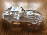 Heavy Glass paperweight Jaguar E Type model car for sale  Fareham, Hampshire