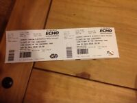 2 tickets Flight of the Conchords Liverpool Sunday 1st April