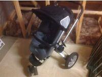 Quinny 3 wheel push chair/basket