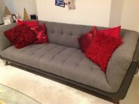 4 modern seater sofa for sale fabric with leather trim only 18 months old
