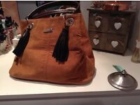 Brown suede river island bag