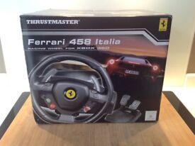 Ferrari thrustmaster 458 Xbox 360