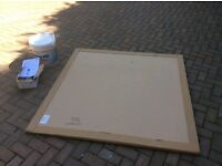 Wet room shower tray and tile master tanking kit