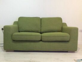 DFS GREEN TWO SEATER SOFA RRP £549 ONE YEAR OLD.... OFFERS WELCOME
