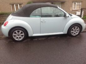 Vw beetle convertible/ cabriolet 2004, duck egg blue 1.9 TDI
