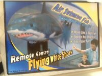 Air swimming fish remote flying white shark