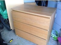 IKEA malm chest of drawers set of two