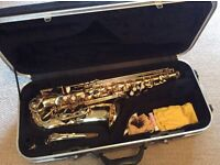 Elkhart series II alto saxophone and case & accessories