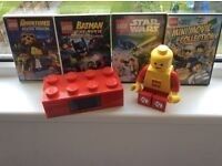 Lego dvds ,torch and alarm clock