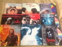 Laser Video Discs 37x various movies and music discs, includes special boxed additions