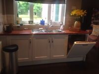 Full kitchen including sink and taps, cooker/hob and dishwasher for sale