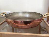 Fantastic Italian 2 handled copper pasta pan/sauteuse for sale.