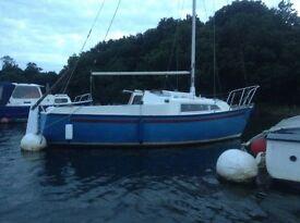 Snapdragon 20 feet sailing boat with mooring