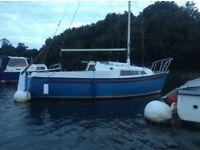 Snapdragon sailing boat with mooring beaulieu river
