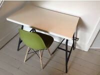 IKEA desk with Eames-style chair