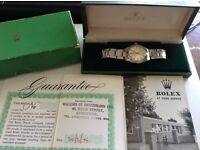 VINTAGE 1971 ROLEX OYSTER SPEEDKING PRECISION 6430 WITH ORIGINAL BOX & PAPER! UNISEX MID SIZE 30mm