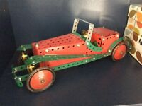 4 original Meccano cars - will sell separately