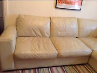 Corner Sofa cream leather