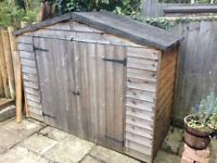 Small shed to fit bikes or other storage