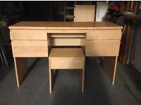 EX IKEA dressing table & stool.