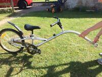 Tag along bike for children