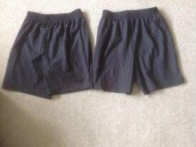 Two Boy's Age 9-10 F&F Black Shorts